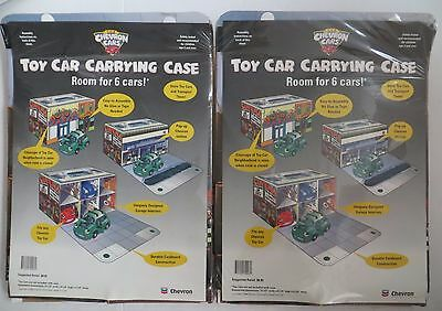 The Chevron Cars Toy Car Carrying Case for 6 Cars set of 2 NEW