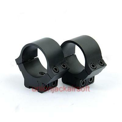 Low Profile 30mm Rifle Scope Rings for 11mm Dovetail Rail