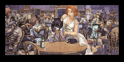 Affiche Offset Blacksad John's Blues Granit Editions