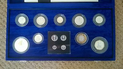 Royal Mint Millennium 13 Coin Silver Proof Set With Maundy Coins