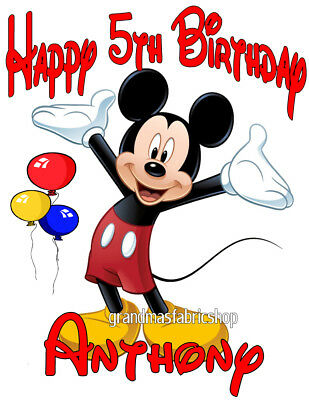 NEW Personalized Custom Mickey Mouse Birthday t shirt party add name and size