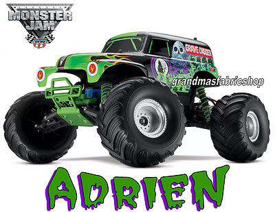 New Custom Grave Digger Monster Truck Personalized custom T Shirt Add Name