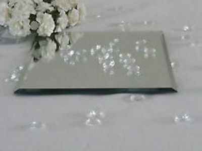 Table Decoration Beveled Mirror Plate Wedding Candle Floral Display Square round