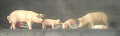 Schleich PigFamily, Boar, Sow and two pigletts  #13283 13266 13284 13285