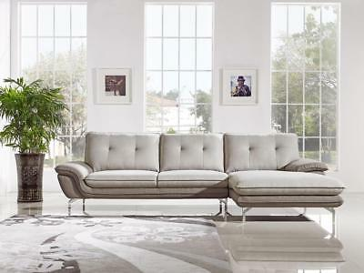 Cool Modern 2 Tone Fabric Sectional Sofa Right Facing Chaise Vig Gmtry Best Dining Table And Chair Ideas Images Gmtryco