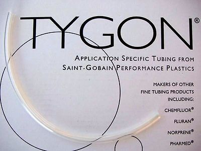 "Tygon 2375 tubing 12"" Clear Brake Reservoir Hose 5mm ID 30cm length 3/16"" TBE."