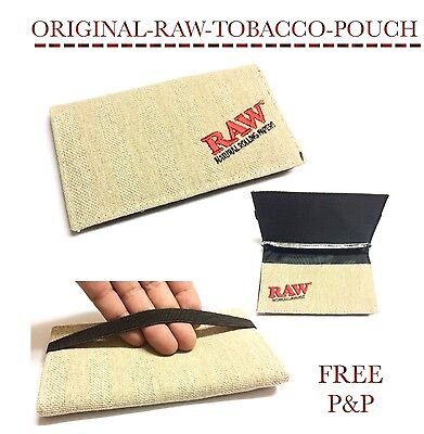 Raw Smokers Wallet Tobacco Holder Rolling Travel Pouch Smoking UK SELLER P&P