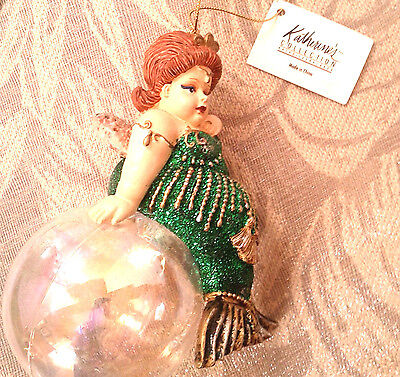 Rare Retired Katherine's Collection At Silver Lake Sparkly Mermaid Ball Ornament