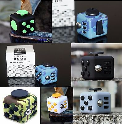 2017 UK Fun Fidget 6 Sided Cube Adult Anxiety Stress Relief Cubes Toys Camo Gift