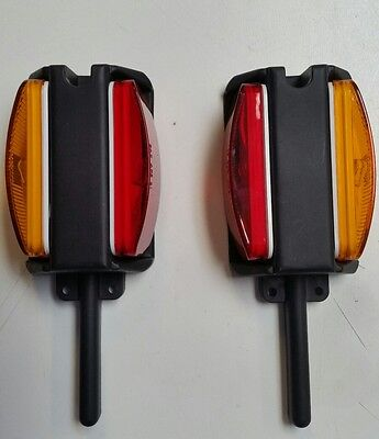 Trailer Fender Marker Clearance Lights, One Pair, Right and Left Hand Side