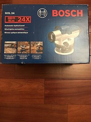 Bosch GOL24 300-Foot 24x Power Lens Automatic Optical Level - NEW!