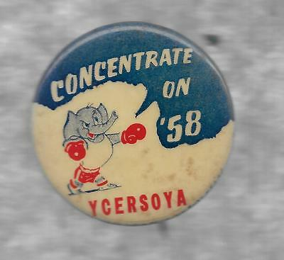 Concentrate In '58-----With Catchy Republican Saying