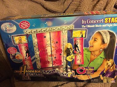 """Disney  Hannah Montana In Concert 12"""" Doll Stage Light and Sound New"""