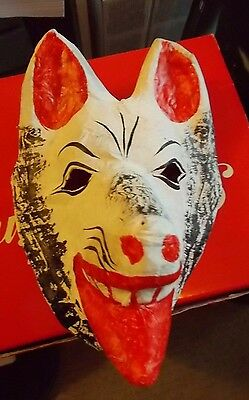 Paper Mache Animal Mask Wall Hanging Made in Mexico