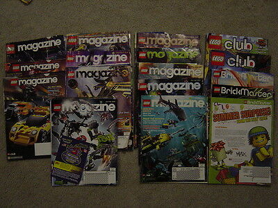 Collection of 16 2005-08 used LEGO Club Magazines,Brickmaster varying condition