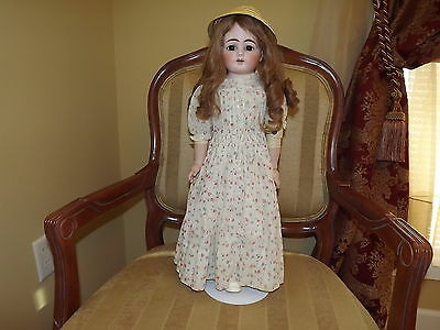 Antique Germany Heubach 1900-4 Horseshoe Mark Bisque Head Doll 23 in.