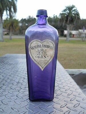 Genuine American Gin Frank A Flynn Co.amethyst A Beauty