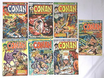 Conan The Barbarian #26,27,29,30,32,33,35 Lot of 7, 1973  G to VG+ Condition