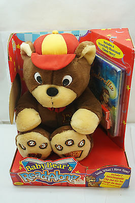Baby Bear's Read Along Talking Plush Toy 1999 Cinderella Story Book Reader New