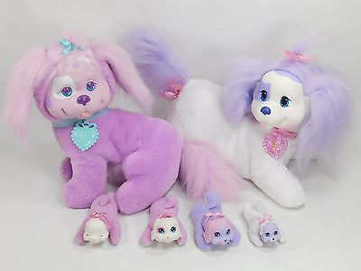 RARE HTF 1993 PURPLE PUPPY SURPRISE MOMMY & 2014 Mom & 4 Babies Baby Dog Ref-A