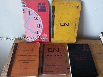 1970's Canadian National Railways CNR Train, Steam Gen, Rules, Union, Time Books