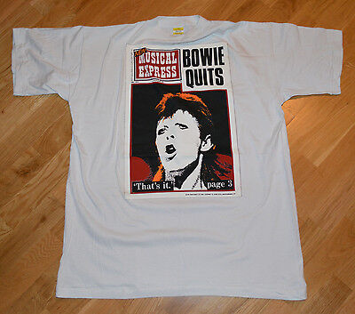 RaRe *1980's DAVID BOWIE* vtg ziggy stardust concert t-shirt (XL) 70s Rock God