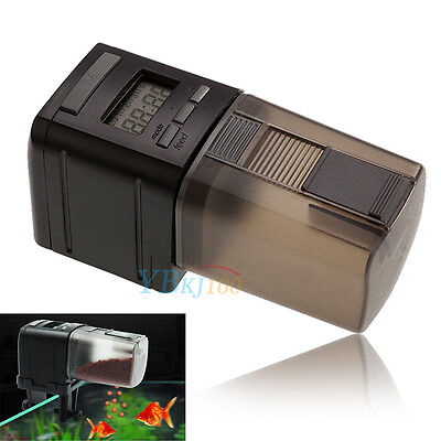 New Automatic Fish Tank Pond Digital LCD Pet Fish Food Feeder Feeding Timer HG