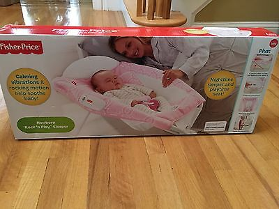 Fisher Price Rock n Play Sleeper Vibrating Chair Design Pink New