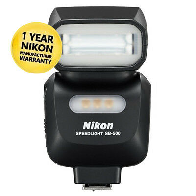 Nikon SB-500 Speedlight Camera Flash with GEN NIKON WARR