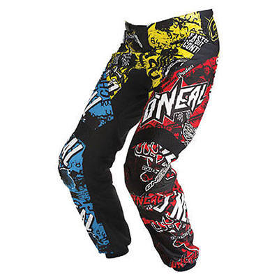 Oneal MX Gear Element Racewear Adult and Youth Kids Motocross Dirt Bike Pants Wi