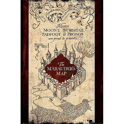 Harry Potter - The Marauders Map POSTER 61x91cm NEW * Hogwarts Magic School