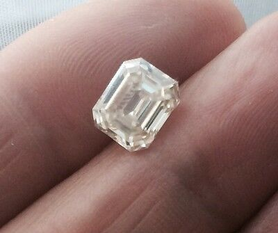 Moissanite Emerald  Cut jewel 1.90ct 8X6.40 Loose Jewel
