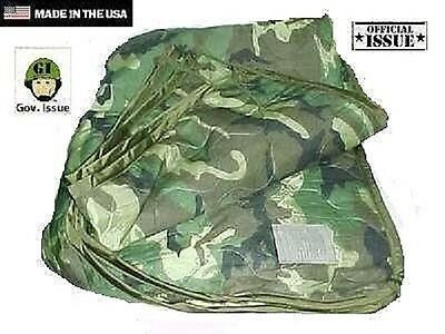 US Army Woodland camouflage Outdoor Decke Liner Tarndecke poncho liner blanket
