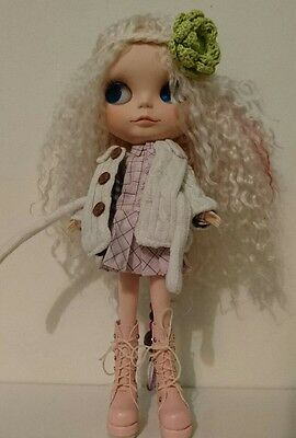 OOAK Custom Blythe with mohair reroot