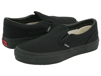 Vans All Black Classic Slip On Mens Womens Canvas Skates Shoes All Sizes 3.5-13