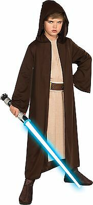 Rubies Costume Co Star Wars Child's Hooded Jedi Robe Small (size 4-6) Brown