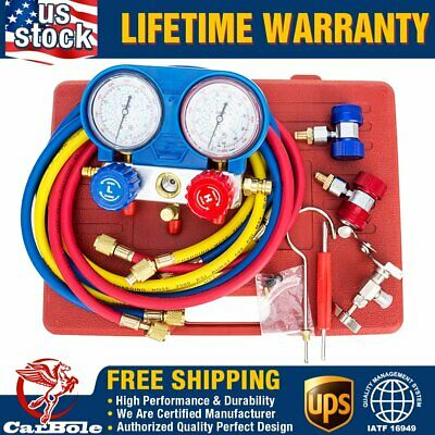 AC Refrigeration Kit HVAC A/C Manifold Gauge Set Air R12 R22 R134a 410a R404z US