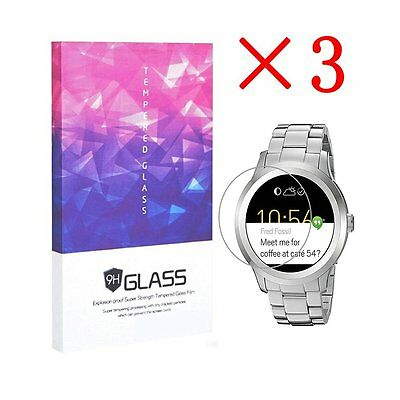 For Fossil Q Founder Tempered Glass Screen Protector 9H Hardness (3 Packs)