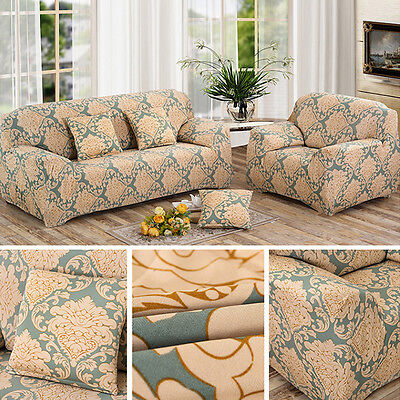 Stretch Slipcover Sofa Dustproof Protector Sofa Cover Flower For 1/2/3 Seater