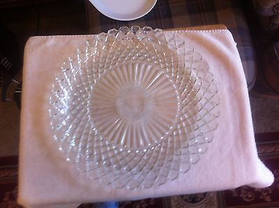 Waterford Waffle Pattern Party Serving Platter By Anchor Hocking