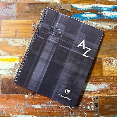 Spiral A5+ A-Z Tab Seyes Grid 100 Page Index Book Paper Notebook Organiser Pad