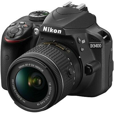 New Nikon D3400 Digital SLR Camera + AF-P 18-55mm VR Lens Kit - Black