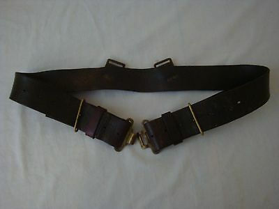 WW2 WWII Canadian British Pattern '39 Leather Belt