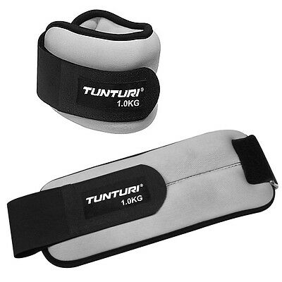 Tunturi Soft Ankle / Wrist Weights for Fitness Exercise Toning -  1kg