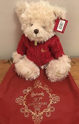 Harrods 30th Anniversary Benedict Bear **Mint Condition In Bag With Tag**