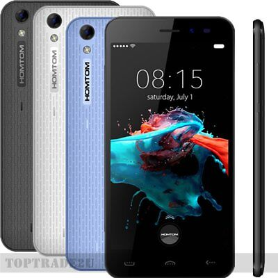 "5,0""Zoll HD Android6,0 3G Handy QUADCORE 8GB 8MP DualSIM Smartphone HOMTOM HT16#"