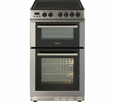 BELLING BEL FS50EDOPC 50 cm Double Oven Electric Ceramic Cooker Stainless Steel