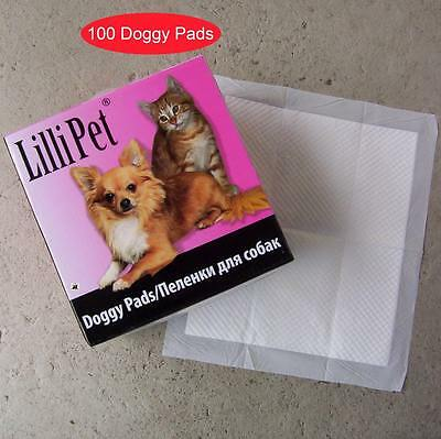 AKTION 100 Doggy Pads Welpentoilette, Trainingsmatten Puppy, Welpenunterlage, WC