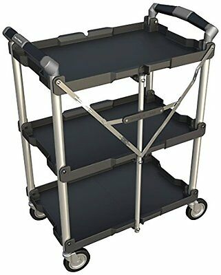 Olympia Tools 85-188 Collapsible SERVICE CART, Folding Wheeled Storage CART