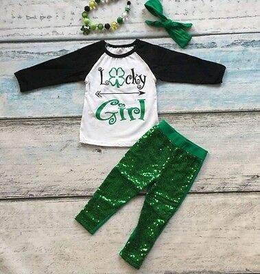 St. Patrick's Day Lucky Girl Outfit